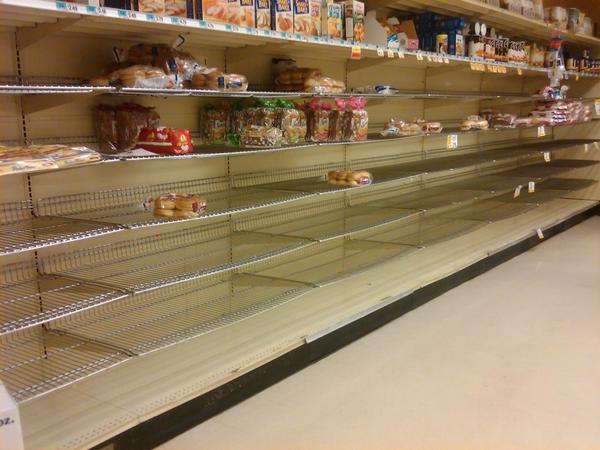 Panic Buying Grips the East Coast: Mad Rush for Supplies Ahead of Mega Storm sandy stores MiddletownNJ Foodtown