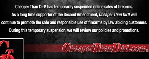 "Top Online Gun Retailer Suspends Sales of Firearms: ""Effective Immediately"" cheaperthandirt"