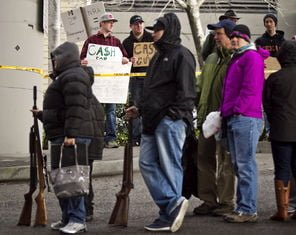 "BACKFIRE: Seattle Gun Buyback Turns Into Gun Show; Collectors Waved ""Wads of Cash"" At Those In Line cash4guns3"