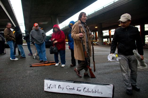"BACKFIRE: Seattle Gun Buyback Turns Into Gun Show; Collectors Waved ""Wads of Cash"" At Those In Line cash4guns4"