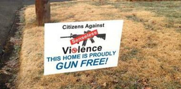 "Citizens Against Senseless Violence: ""Join Us! Tell Everyone Your House Is Completely Unprotected!"" gun free"