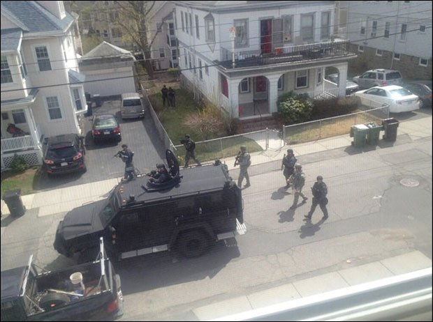 BATTLEFIELD USA: De Facto State of Martial Law Declared In Boston *Pics From the War Zone* Boston martial law6