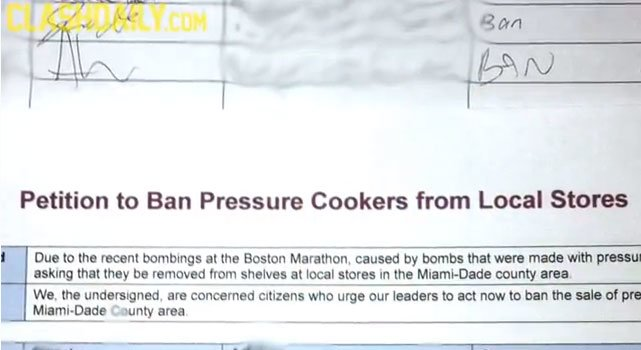 "Best and Brightest: College Students Sign Petition to ""Ban Pressure Cookers"" *Video* Petition Ban Pressure Cookers2"