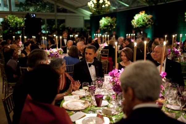 Congress Dines Lavishly