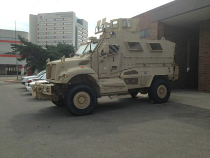 "Ohio State Gets Armored Fighting Vehicle: ""Specifically Designed for Asymmetric Warfare"" osu mrap"