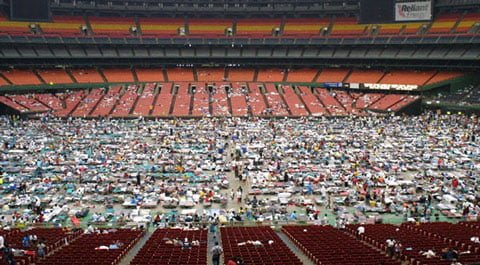 Houston's Reliant Stadium - Hurricane Katrina Refugees
