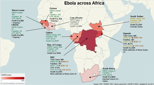 DHS Chatter: Suspected Terrorists Planning to Infect Themselves With Ebola ebola across africa small