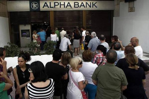 "Bankers Plan to Raid Deposits After Greeks ""Rise Up Against Debt Bondage"""