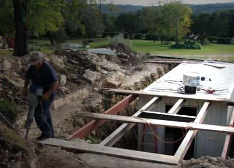 How This Man Converted Underground Shelter Using a 20 Ft Shipping