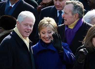 Hillary Clinton and George H.W. Bush