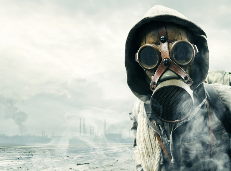 gas mask nuclear attack