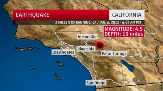 an earthquake this morning rattled a wide swath of southern california sparking fears that this may not be the worst the 4 5 magnitude quake struck near