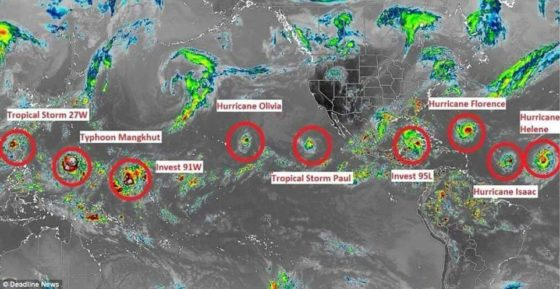 C SPRING'S SEPT.-14 = A Record 7 Named Storms Are Swirling Across The Globe & BORDER INVASION !!! & Hurricanes-e1536932528321