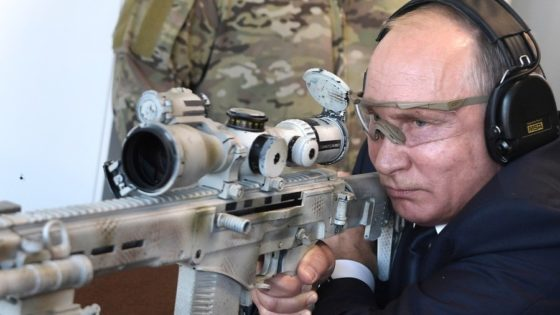 Russian President Vladimir Putin Tests New Kalashnikov Super Rifle